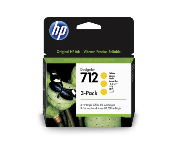 3ED79A HP 712 Yellow Ink Cartridge 3-Pack